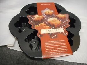 NORDIC WARE WILLIAMS SONOMA MAPLE LEAF BAKING PAN MOLD MUFFIN  NWT