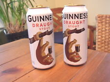 Guinness Draught Stout Kinkajou Beer Cans, set of 2
