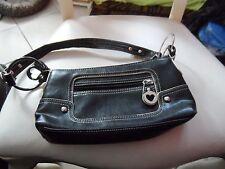 black and cream XOXO handbag