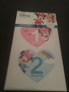 Disney Baby Minnie Mouse First Year Milestone Belly Stickers Girls heart pink