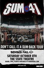 Sum 41 * ORIGINAL CONCERT POSTER * Senses Fail * St. Petersburg, FL * Oct. 8th