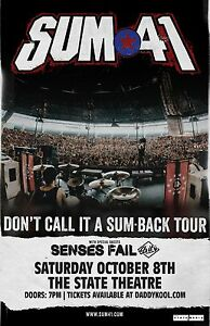 Sum 41 [Concert Poster] 11 x 17 #