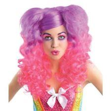 Adultos rosa y púrpura Raging Pony Rizos Peluca Accesorio Disfraz Elaborado Vestido