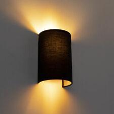 Qazqa 98437 Moderne Wandleuchte Schwarz Und Gold - Simple Drum