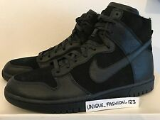 NIKE LAB DUNK LUX HIGH SP SHERPA US 11 UK 10 45 HI TRIPLE BLACK WOOL 744301-001