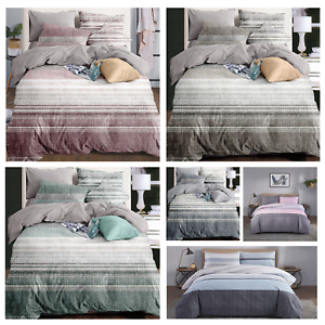 Single Double King Size Printed Duvet Luxury Quilt Cover Bedding Set Polyester