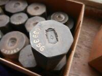 VINTAGE DIEGES & Clust Negative Steel Dies Lot 15 Signet Ring Pin - RARE Find