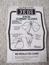 Ewok Combat Glider ROTJ Vintage Instructions Star Wars Original