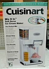 Cuisinart ICE-45 Mix-It-In Soft Serve 1.5QT Soft Serve Ice Cream Maker - White
