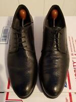 HUGO BOSS Black Textured Leather Cap-toe Men's Oxford US 7 / 40 Italy
