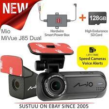 Mio Mivue J85 Dual Car GPS Dash Camera│128GB│2.5K 1600p Recording│Wi-Fi│G-Sensor