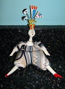 """Vintage Poupee Millet Cerri Bean Bag ART DOLL Porcelain Limbs France 8"""""""