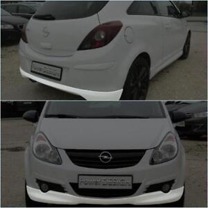 """Spoiler anteriore+posteriore sotto paraurti per OPEL CORSA D ABS Plastica """"OPC"""""""