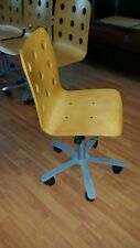 Meeting Chair on wheels plus gas lift height adjustment.