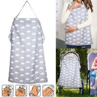 Breastfeeding Nursing Scarf Cover Feeding Baby Mum Udder Apron Shawl Cotton UK