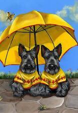 "Precious Pets Garden Flag - Scotties Sunshine Twins 12"" x 18"" ~ Charity!"