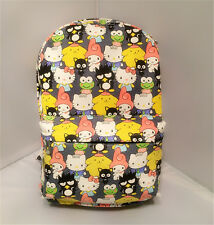 """My melody Pom Pom Purin 15"""" canvas backpack shoulder bag school bags new"""