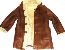 MENS BURBERRY LONDON SHEEPSKIN SHEARLING DUFFLE JACKET OVERCOAT DUFFLE COAT 44R