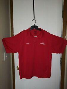 Your Choice Embroidered Doug XL Safelite Red Work Shirt work Halloween costume