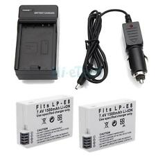 2x LP-E8 Battery & Charger for Canon 550D 600D T3i T4i T5i