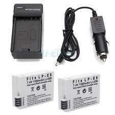 2x LP-E8 Battery & Charger for Canon 550D 600D T3i T4i T5i