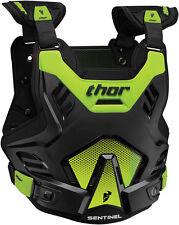 Protector de pecho Thor Juvenil Centinela GP Body Armour Negro Verde Junior Motocross