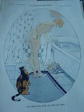 La Devise de Beguinette Un Coeur d'or sous un gant de crin Print Art Déco 1913
