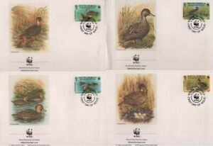 WWF South Georgia 1992 Fdc Teal Duck