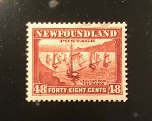 Stamps Canada Newfoundland SC199 ,48c red brn Fishing Fleet 1938 see.details.
