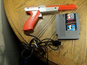 Nintendo Zapper Gun & Super Mario Bros / Duck Hunt Cartridge Tested & Cleaned