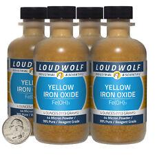 Iron Oxide Yellow 1 Lb 4 Bottles 99 Pure Reagent Grade 44 Micron Powder
