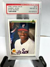 1990 Upper Deck Sammy Sosa #17 Star Rookie Graded PSA 8 NM-MT White Sox
