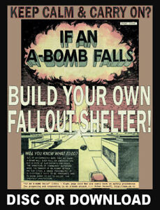 SURVIVAL BUNKER / NUCLEAR FALLOUT BOMB SHELTER PLANS - Shelters Book Scans Films