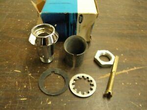 NOS OEM Ford 1964 1965 Falcon Trunk Lock Cylinder Sleeve Kit Bezel