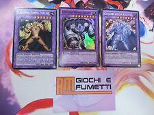 3 FUSIONI CAVALIERE GEMMA TOPAZIO + AMETISTA + ZIRCONE in italiano YUGIOH