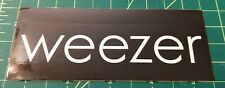 Weezer 2005 Make Believe black rectangular Promo Sticker alt rock