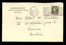 BELGIUM 1935 AMERICAN EMBASSY ENVELOPE to AUSTRIA