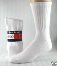 Mens Athletic crew socks white  size 13-15   12 pair