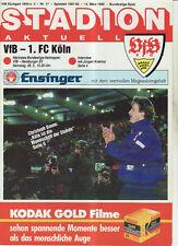 BL 91/92 VfB Stuttgart - 1. FC Köln
