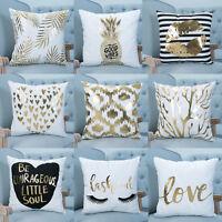 """18"""" Linen Cotton Vintage Throw Bed Pillow Case Cushion Cover Home Sofa Decor."""