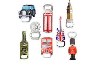 Famous London Skyline Mix fridge Magnet Bottle Openers - Set of 8