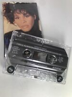 I Will Always Love You Single Whitney Houston Vintage Cassette Tape TESTED WORKS