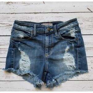 Guess Jeans Women Blue Distressed Shorts Size 25
