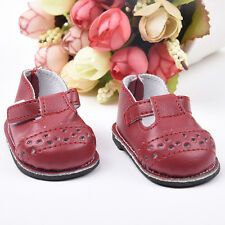 Kid Handmade Fashion Red Hollow Shoes for 16inch Doll Accessories
