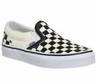 Vans Classic Slip On Black White Checkerboard Skate Shoes Kids Size 11
