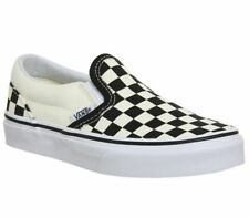 Vans Classic Slip On Black White Checkerboard Skate Shoes Kids Size 11