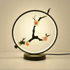 Bedside Table Light Lamp LED Night light Round Flowers Home Decor USB BRAND NEW