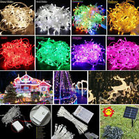 2-100M LED Battery/Solar Fairy String Light Outdoor Wedding Christmas Party Lamp