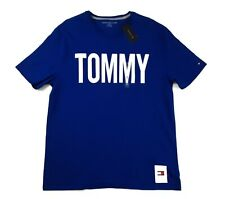 Tommy Hilfiger Mens T-Shirt XL Short Sleeve Crew Neck Graphic Blue Tee NWT