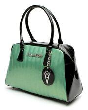 Lux De Ville Large V8 Tote Baby Green Sparkle + Black Retro Pinup Hotrod NEW
